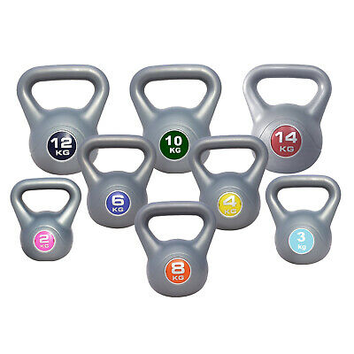 Kettlebell Weight Training  2kg-14kg Strength Fitness Workout FREE EXERCISE DVD