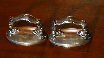 Pair Antique 19C French Sterling Silver Dome Dolphin's Head Handles 123 Gr.