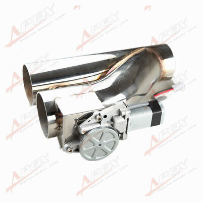 """3"""" 76mm Exhaust Downpipe Testpipe Catback E Electric Cutout kit Switch Control"""