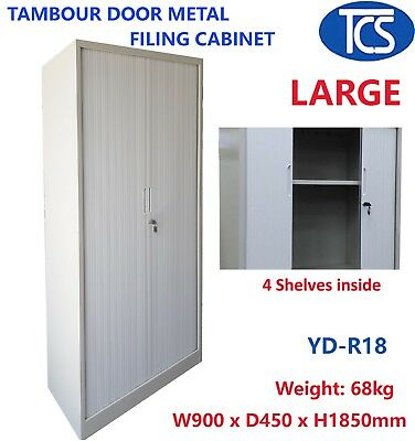 Tcs New Tambour Door Metal Filing Cabinet Home & Office Furniture Storage