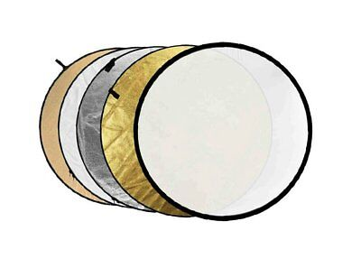 "Studio Pro 5-in-1 Collapsible 110cm / 43"" Diffuser Panel Round Reflector Disc"