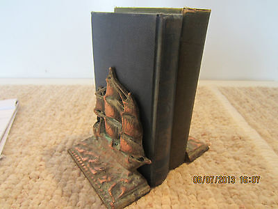"Pr Of Old, Cast Iron, ""constitution"" Bookends"