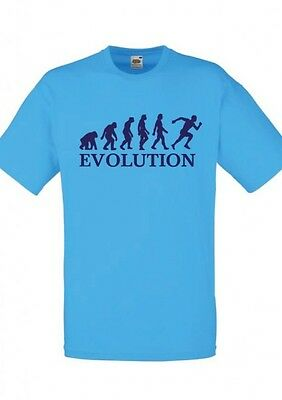 FUN T-SHIRT - Druck EVOLUTION LEICHTATHLETIK - FRUIT OF THE LOOM - IN 11 FARBEN