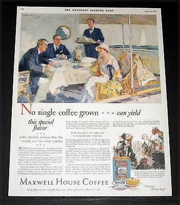 1927 Old Magazine Print Ad, Maxwell House Coffee, Yields A Special Flavor, Art!