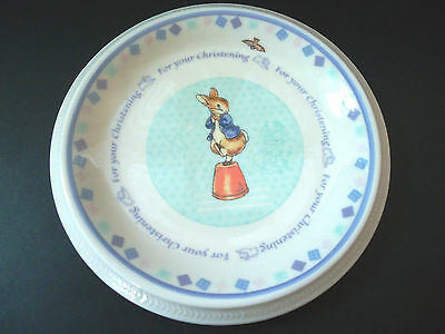 Child's Wedgwood Plate Peter Rabbit For Your Christening World of Beatrix Potter