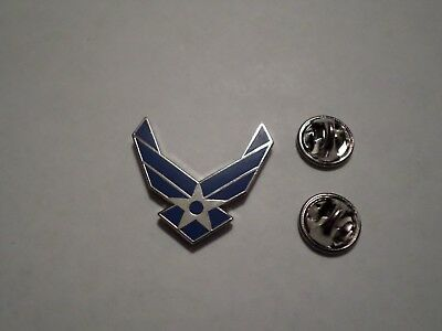 U.s Military Blue Air Force Hat Lapel Pin Double Clutch Back Good Quality Pin
