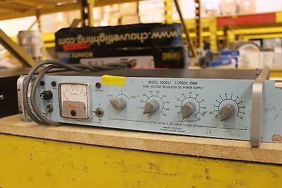 Canberra 3000Cl 1-2000V 10Ma High Voltage Regulated Dc Power Supply