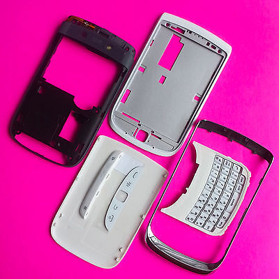 Torch 9810 Housing Blackberry Full Assembly White Case Cover Replacement NEW