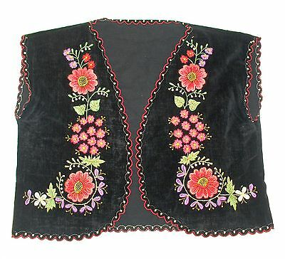 19c. ANTIQUE TURKISH OTTOMAN EMPIRE HAREM LADY EMBROIDERED VELVET VEST BODICE