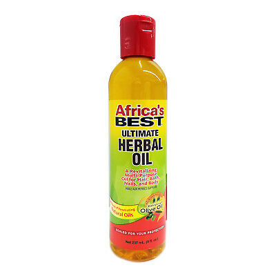 [Africa's Best] Ultimate Herbal Oil For Hair, Bath And Body 8Oz