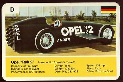 "Opel ""Rak 2"" - World Record Holder - Top Trumps Card #AQ"