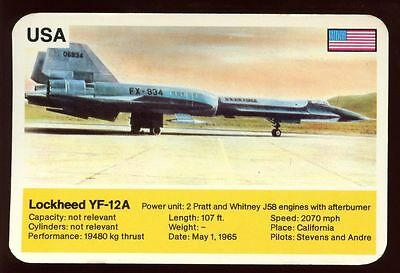 Lockheed YF-12A - World Record Holder - Top Trumps Card #AQ