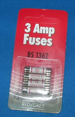 3 Amp 240V Fuses Mains Household Plug Top Electrical Pack Of 4