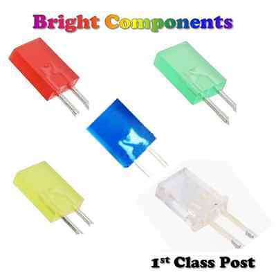 Rectangle LEDs 5x7mm Red,Blue,White,Green,Yellow,Orange - 1st CLASS POST
