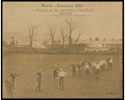 Neath Rfc 1895 Rugby Print On 'fairfield' With Numbered Coa