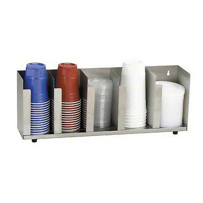 Stainless Steel Cup and Lid Organizer (5 Section)