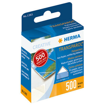 500 X Herma Transparol Fotoecken #1383 Foto Photo Ecken