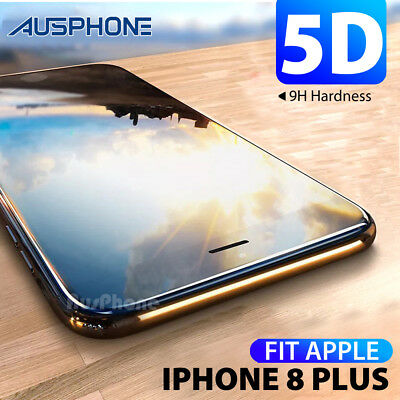 Apple IPhone 8 Plus 5D Full Coverage Crystal Tempered Glass Screen Protector