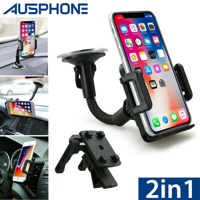 Universal 360 Windshield Mount Car Holder For GPS Samsung S10 Note 9 iPhone