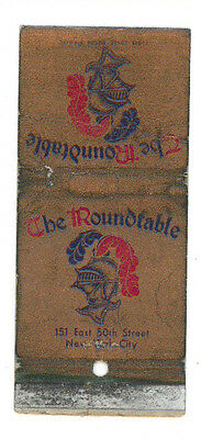 The Roundtable Restaurant New York Matchbox Label America