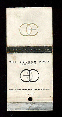 The Golden Door Restaurant New York Matchbox Label America