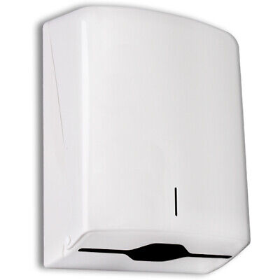 Professional C-Fold White Plastic Wall Mounted Paper Hand Wipe Towel Dispenser
