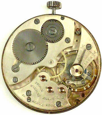 Movado Complete Running Pocket Watch Movement - Parts / Repair