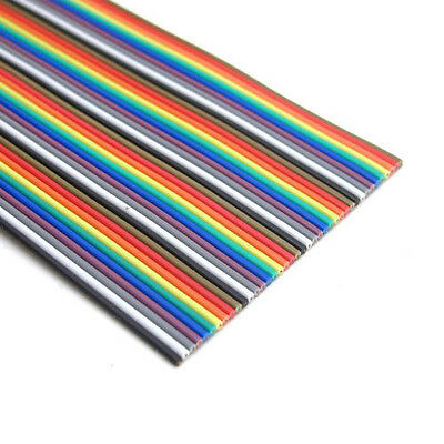 2M of 40 Way Flat Color Rainbow Ribbon IDC Cable wire For Arduino DIY