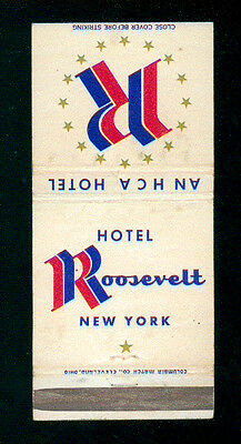 Hotel Roosevelt Hca New York Matchbox Label Anni '50 America