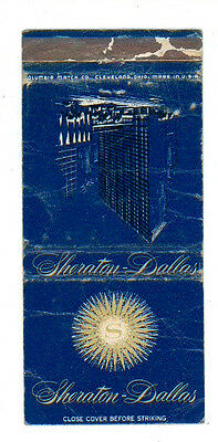 Sheraton Dallas Hotel Matchbox Label Anni '50 America