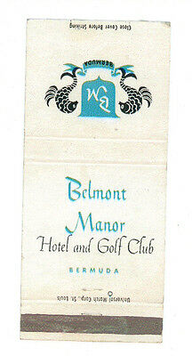 Belmont Manor Hotel And Golf Club Bermuda Matchbox Label Anni '50 America