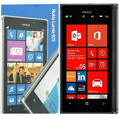 Bnib Nokia Lumia 925 Black 16Gb Rm-892 Factory Unlocked Lte 4G 3G 2G New Simfree