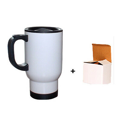 14oz WHITE TRAVEL SUBLIMATION MUG FOR SUBLIMATION HEAT PRESS PRINTING
