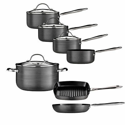 Non-Stick Tenzo H Series Aluminium Pan Set Ceramic Coated Saucepan Hard Anodised