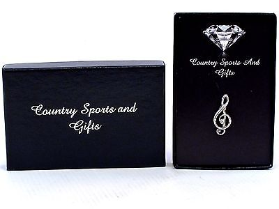 Treble Clef Pewter Lapel Hat Pin Badge - Music Note Musician- Ideal Gift