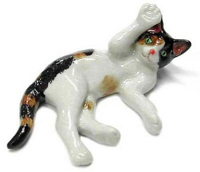➸ NORTHERN ROSE Miniature Figurine Calico Cat