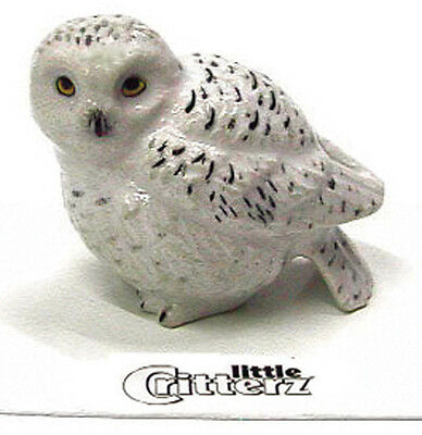 ➸ LITTLE CRITTERZ Bird Miniature Figurine Snowy Owl Ghost