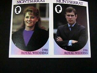 1986 Montserrat Royal Wedding With Value (70C) Missing & Imperforate, Vf Mint Nh