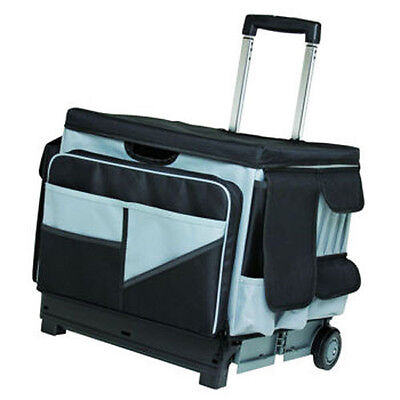 MemoryStor Rolling 46 Compartment Canvas Organizer Cart Bag Holds 65 lbs. Art