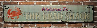 Welcome to the Crab Shack Sign - Rustic Hand Made Vintage Wooden Sign
