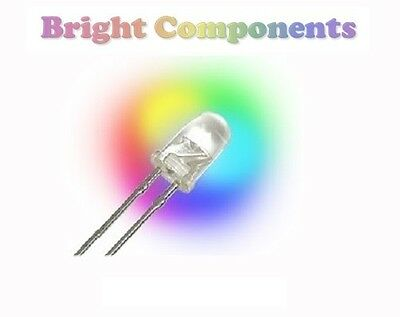 5 x Rainbow Colour LED 3mm - RGB - Fast Cycle - UK - 1st CLASS POST
