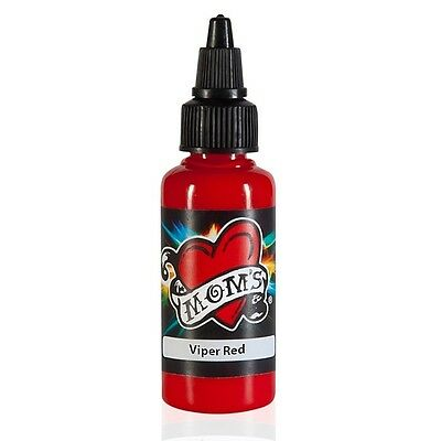 MOMS MILLENNIUM TATTOO INK VIPER RED Bright Vibrant Color (2 Sizes Avail)