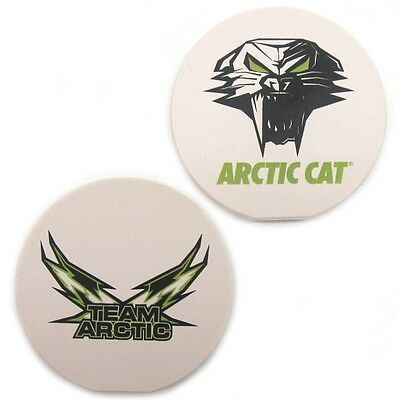 Arctic Cat Team Arctic Cathead Absorbent Car Cup Holder Coasters 2 Pack 5243-026