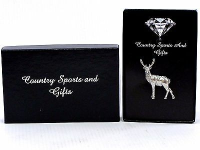 Full Stag Deer Pewter Lapel Hat Pin Badge - Hunting Game Stalking - Ideal Gift