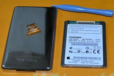 "1.8"" MK1634GAL(160GB)HDD FOR iPod Classic 7th Gen+metal Back Cover/hdd cable"