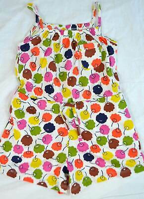 Mini Boden Girls cotton summer print playsuit vest  / shorts NEW 2-10 romper