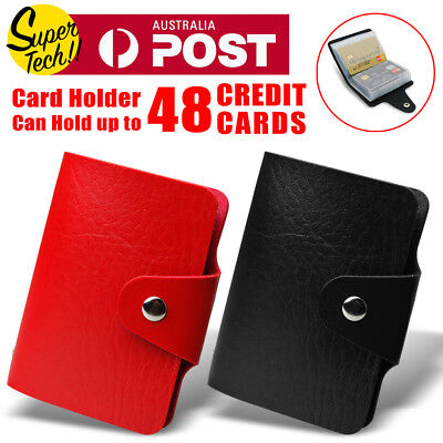 NEW Leather Business ID Credit Card Holder Handbag Purse Storage Case Pocket
