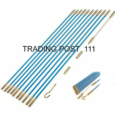 Neilsen Cable Access Kit 10 x 330mm Wires Rods Hooks Pull Through Cables   15B