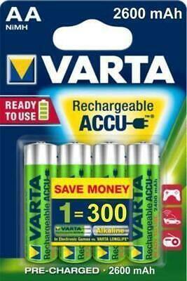 8 x VARTA r2u ready to use Power Akku AA Akku Mignon 2600 mAh NIMH Neu