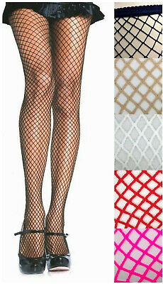 Leg Ave 9003 Industrial Fish Net Pantyhose Spandex One Size Black White or Nude